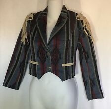 Hobby Horse Bolero Jacket GIRLS LARGE Showmanship Conchos Detachable Fringe