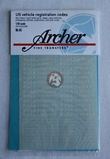 Archer 1/35 US Vehicle Early War Registration Codes Non-Stencil (White) AR35054W