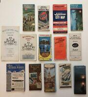 Lot Of 14 Vintage Folding Street Maps Pennsylvania: Pittsburgh, Philadelphia Etc