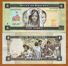 Eritrea, 1 Nakfa, 2015,  P-New, New colors UNC > Children