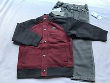 Calvin Klein 3pc Boy 24 Month Jacket Sweater Shirt Jeans Birthday Gift 2 winter
