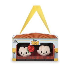 "Disney Store Tsum Tsum 3.5"" Mickey & Minnie Spain Gift Box set Mini Plush"