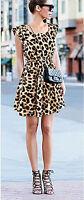 WOW Leopard Print Party Clubbing Dress Size 8 10 14 Summer Dresses Lightweight