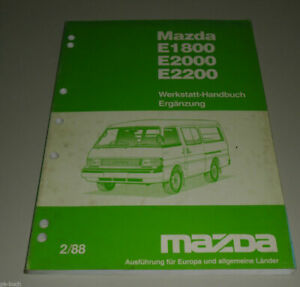 Manual de Taller Mazda E 1800/E 2000 / E 2200 Complemento Stand 02/1988