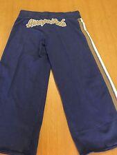 Aeropostale Women's S 100% Cotton Blue Exercise Workout Athletic Yoga Pants  A93