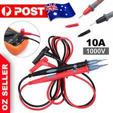 1 Pair Digital Multimeter Multi Meter Test Lead Probe Pen Cable 1000V 10A
