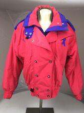 Couloir Womens Vintage Pink Purple ColorBlock Ski Jacket Sz 10 Hooded Snow