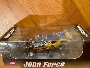 1/64 Diecast JOHN FORCE CASTROL GTX ELVIS MUSTANG FUNNY CAR 1998 Action