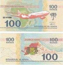 South Africa - Venda 100 Rands 2015 UNC Fantasy Banknote - Airbus A330 Plane