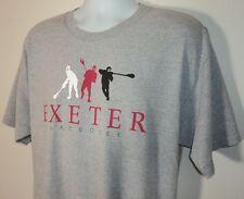 Exeter Lacrosse Mens Size Xl T Shirt Gray Pre Shrunk Cotton Blend Excellent Cond