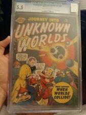 Journey Into Unknown Worlds #37 (#2) CGC 5.5 *1st Series *Hitler App* 1950 Atlas