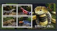 Ghana 2013 MNH Reptiles of Africa II 4v M/S Lizards Skink Agama Monitor Stamps