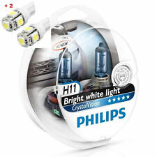Philips Crystal Vision H11 Twin - 2 free LED T10/W5W