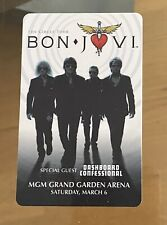 Bon Jovi MGM Grand Hotel  Casino Room Key Card (Mint Condition)