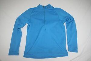 Pearl iZumi Cycling Jersey 1/2 Zip Long Sleeve Base Layer Jersey Women XS Blue