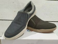 Men's Clarks Step Isle Slip Canvas G Fit Lightweight Slip On Casual Shoes