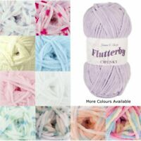 James C Brett Flutterby Chunky Yarn 100g Ball Knitting Yarn Knit Craft