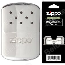 Zippo Refillable Deluxe Hand Warmer w/ Pouch WITH Additional Burner 40323 44003