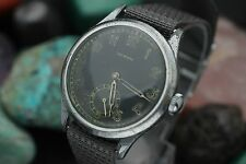 WWII Era LEONIDAS Cal. 1130 Hand Wind 36mm Military Men's Watch