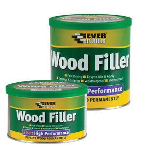 2 Part High Performance Wood Filler Paintable Exterior 2 Pack Filler 7 Colours