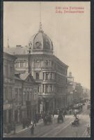 32795) AK Lodz Petrikauerstrasse ulica Piotrowska 1912 gelaufen