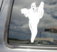 Scary Ghost - Halloween Specter - Car Bumper Window Vinyl Decal Sticker 10280