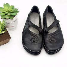 Womens Naot Matai Mary Jane Black Leather Flat Size 36