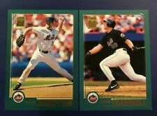 2001 Topps # 89 BUBBA TRAMMELL # 180 MIKE HAMPTON  New York Mets Lot 2 Look !