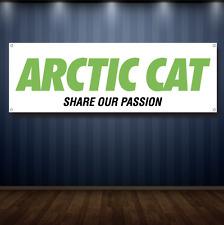 Arctic cat 1' X 3' Garage Banner, 13oz Vinyl - FREE SHIPPING snow mobile NEW