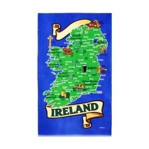 Map of Ireland Tea Towel