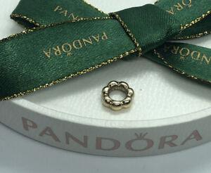 Pandora BUBBLE SPACER CHARM 750131 Authentic Ale 585 14ct Gold