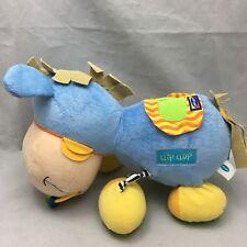 "Playgro Clip Clop Horse Rattle Crinkle Baby Blue Plush 14"" Developmental Toy"