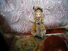 "Tiny Miniature dollhouse dolls doll ~porcelain~ jointed~ 1 1/8 """
