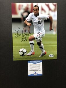 Landon Donovan autographed signed 8x10 photo Beckett BAS COA Soccer Team USA