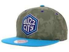 Charlotte Hornets Mitchell & Ness Tonal Camo Buzz City NBA Snapback Cap Hat $32