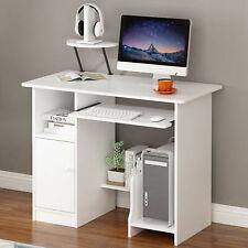 Computer Desk Withdrawer Shelf Laptop Office Desk Home Modern Small Desks White