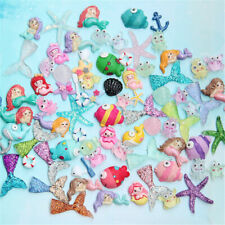 30 pcs Resin Marine Life Craft Decors 1.5-5cm Flatback Cabochons Embellishments