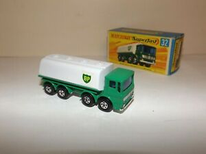 MATCHBOX TRANS. S/F NO.32-A LEYLAND TANKER GREEN/WHITE, 'BP' TO FRONT