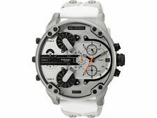 Diesel Men's DZ 7401 Mr Daddy 2.0 White Leather and Silicone Watch