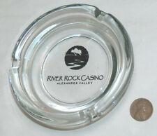 RARE River Rock Casino Alexander Valley CA Clear Glass Cigarette Cigar Ashtray