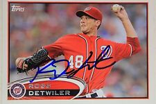 Washington Nationals Ross Detwiler Signed 2012 Topps Autograph Card #US315 106