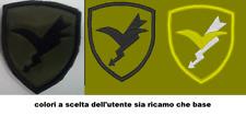 Patch TOPPA FOLGORE 6X7 CM SCRATCH INCLUSO PARACADUTISTI ESERCITO RICAMO RICAMI