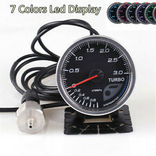"2.5""/60mm 0-3 Bar 7color LED Display Car Turbo Boost Gauge w/Electronic sensors&"