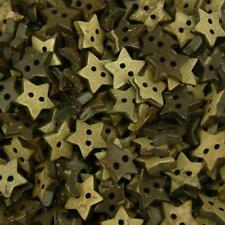 20 x Natural Coconut Shell Buttons - Small 10mm Star Card Craft Scrapbook B302