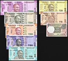 INDIA CURRENT FULL SET**2000/500/200/100/50/20/10/1 RUPEE***UNC GEM***USA SELLER