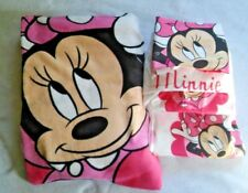 Minnie Mouse Bedding Set 3 pc. Sheet Twin + Blanket 100% Polyester