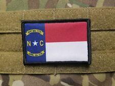 NC North Carolina RWB Flag Military Hook Backed Morale Tactical Hook Patch Army