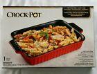 "10""  Crock Pot Non-stick Stoneware Casserole Denhoff Dish * Microwave Safe * New photo"