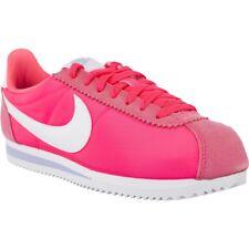 UK 7 WOMEN'S Nike Classic Cortez Nylon Rosa Scarpe Da Ginnastica EUR 41 US 9.5 749864-600