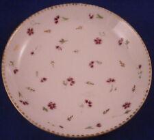 Antique 18thC Nyon Porcelain Puce Cornflowers Saucer Porzellan Untertasse Swiss